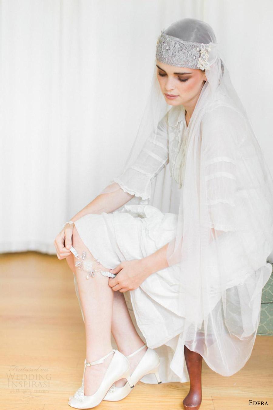 edera jewelry 2016 bridal accessories collection aquarelle (coralie) wedding garter