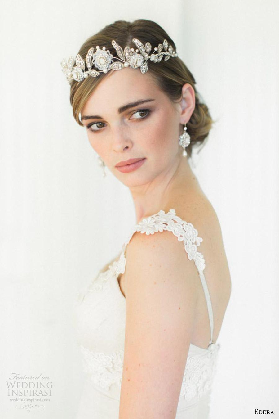 edera jewelry 2016 bridal accessories collection (aquarelle) tiara sv romantic edwardian inspired headpiece