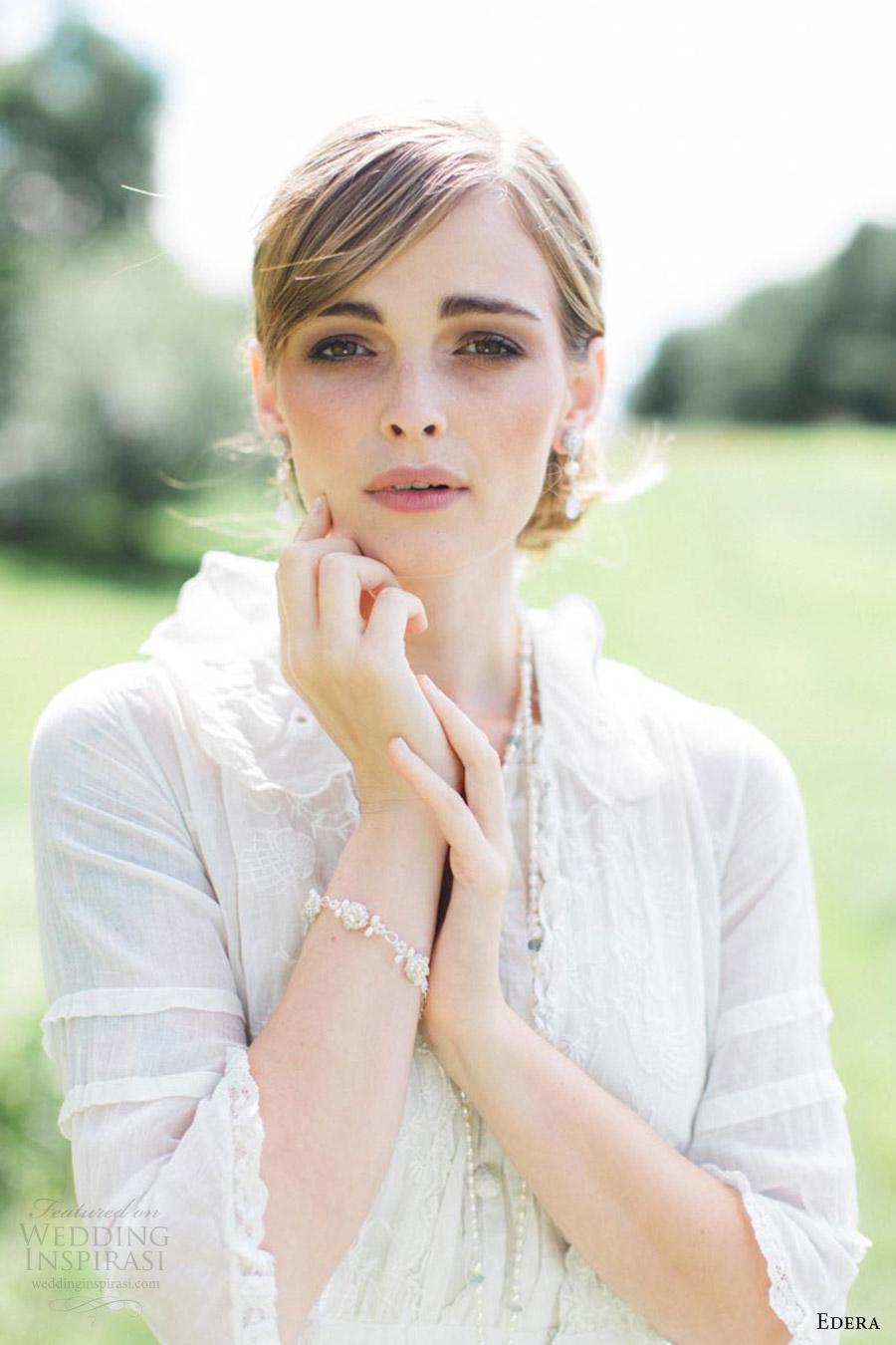 edera jewelry 2016 bridal accessories collection (fleurette) bracelet romantic vintage gown