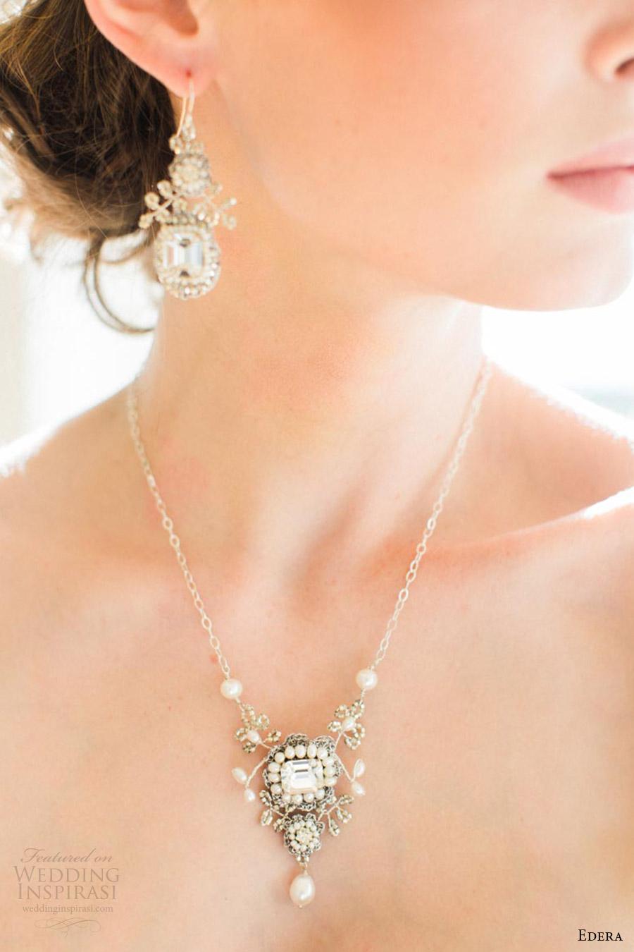 edera jewelry 2016 bridal accessories collection (victorine) lace wedding bib necklace