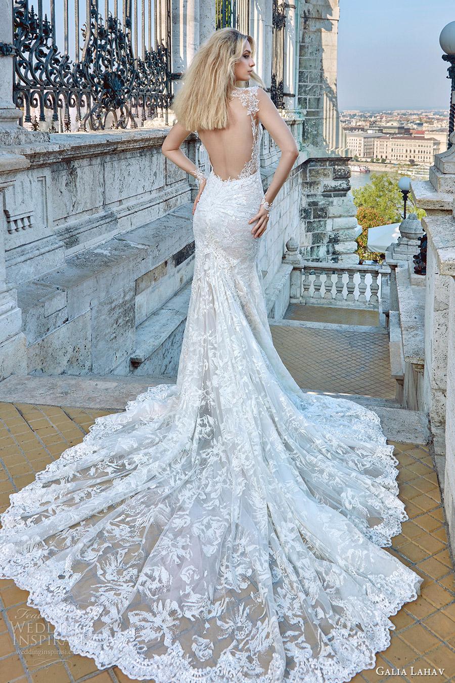 galia lahav fall 2016 bridal cap sleeves sweetheart sheath lace wedding dress (gwen) bv keyhole back romantic elegant medium train