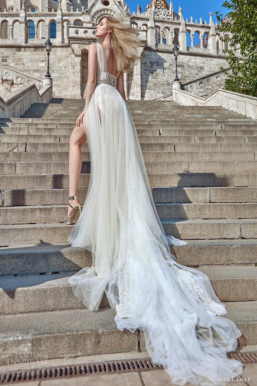 galia lahav fall 2016 bridal sleeveless illusion jewel neck draped straps illusion bodice a line overskirt wedding dress (flavia) grecian edgy bv