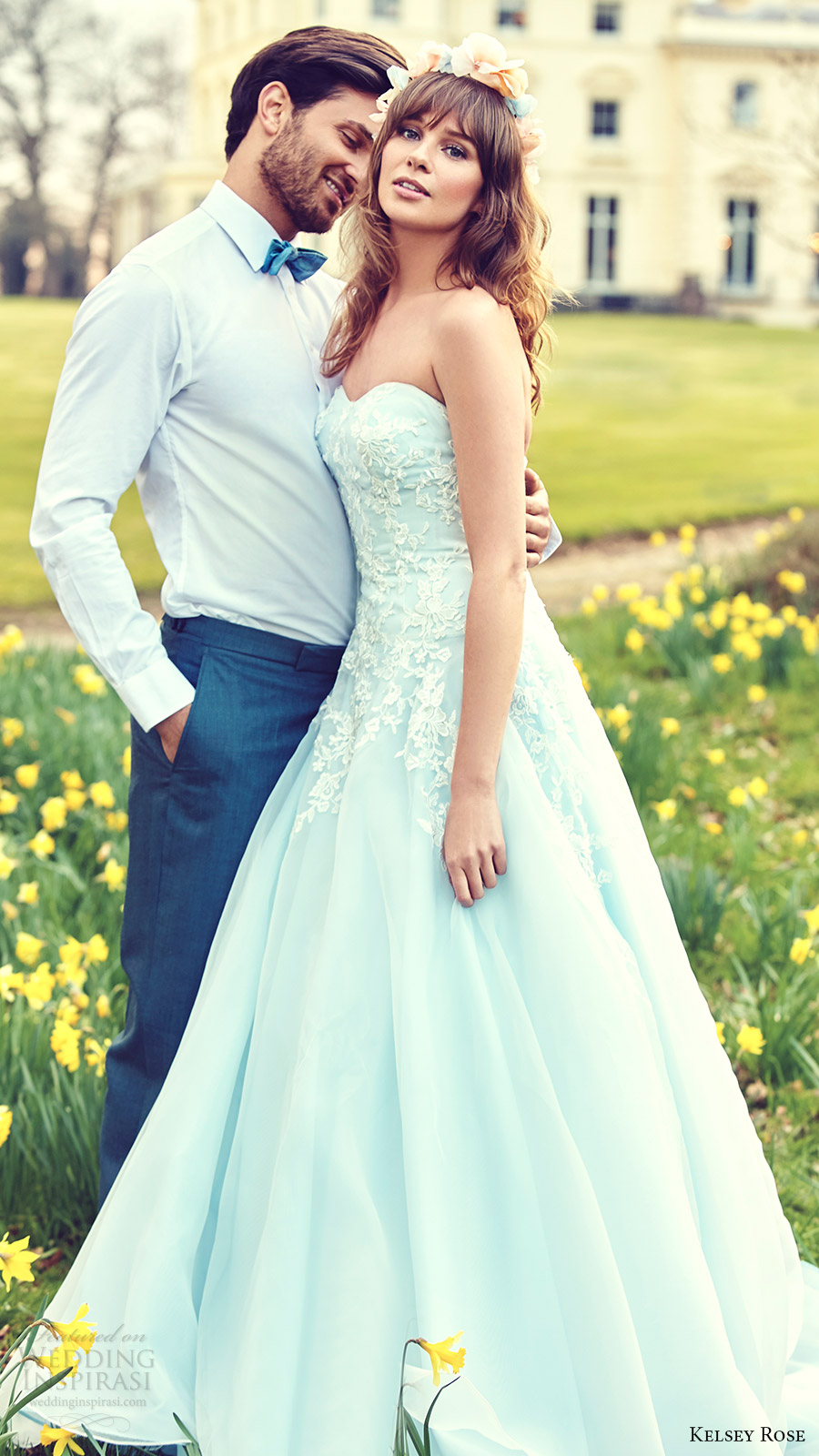 Blue Colored Wedding Dresses 5 Awesome kelsey rose bridal strapless