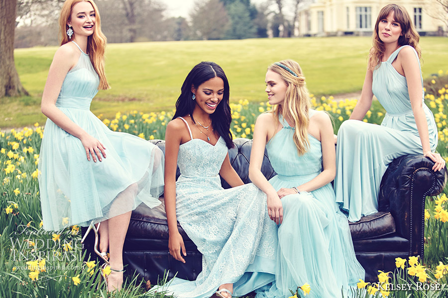 Wedding Dresses Baby Blue 90 Fabulous kelsey rose bridesmaids duck