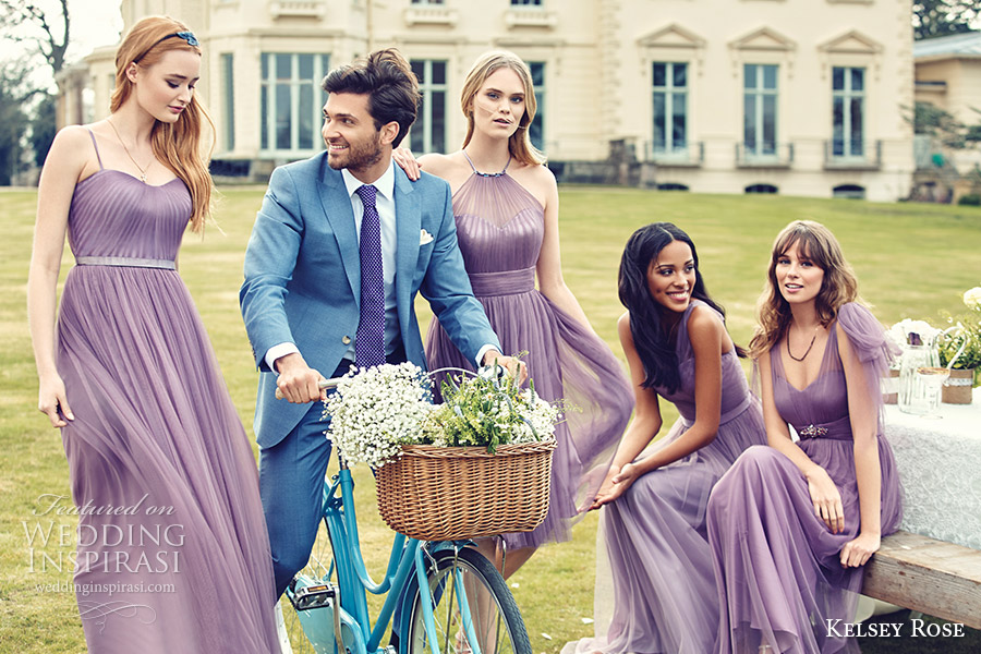 Kelsey Rose Bridesmaids 2016 Pastel Mix Match Mismatched Bridesmaid Dresses Lavender Wisteria Purple Lilac Mauve Spring