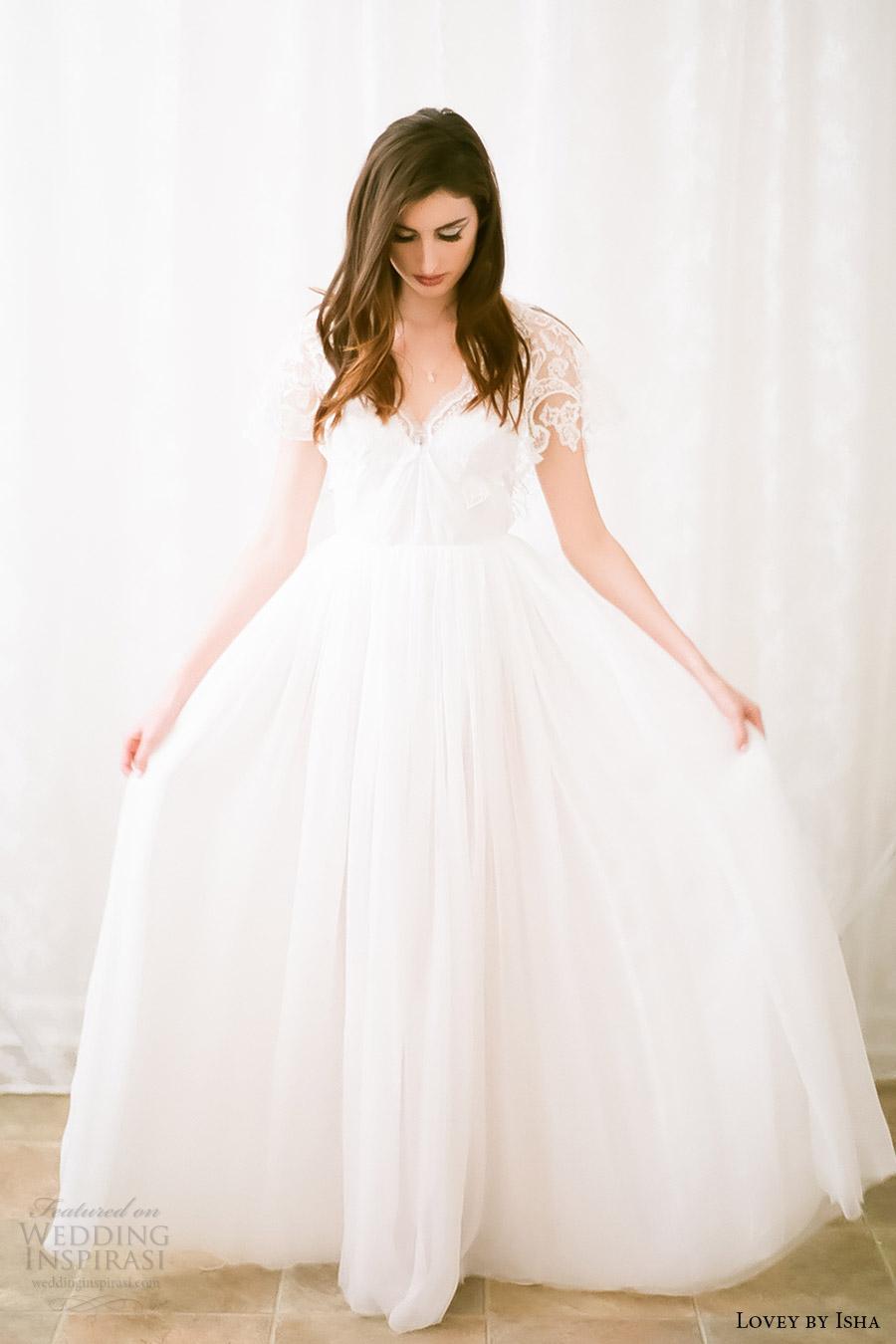 Lovey by isha spring 2016 wedding dresses wedding inspirasi for Short spring wedding dresses