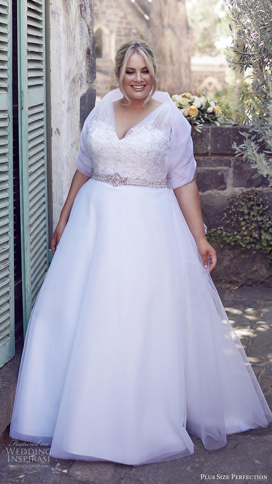 plus size perfection bridal 2016 sleeveles thick straps vneck lace bodice a line wedding dress (felicity) fv romantic elegant wrap