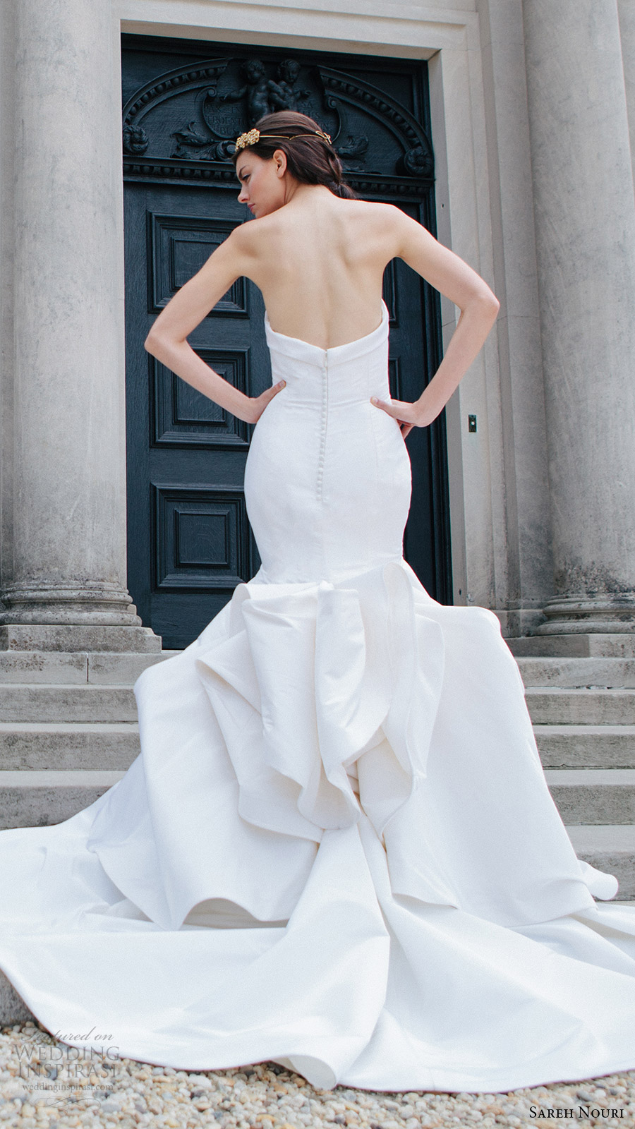 sareh nouri bridal fall 2016 strapless sweetheart mermaid wedding dress (artemis) zbv elegant