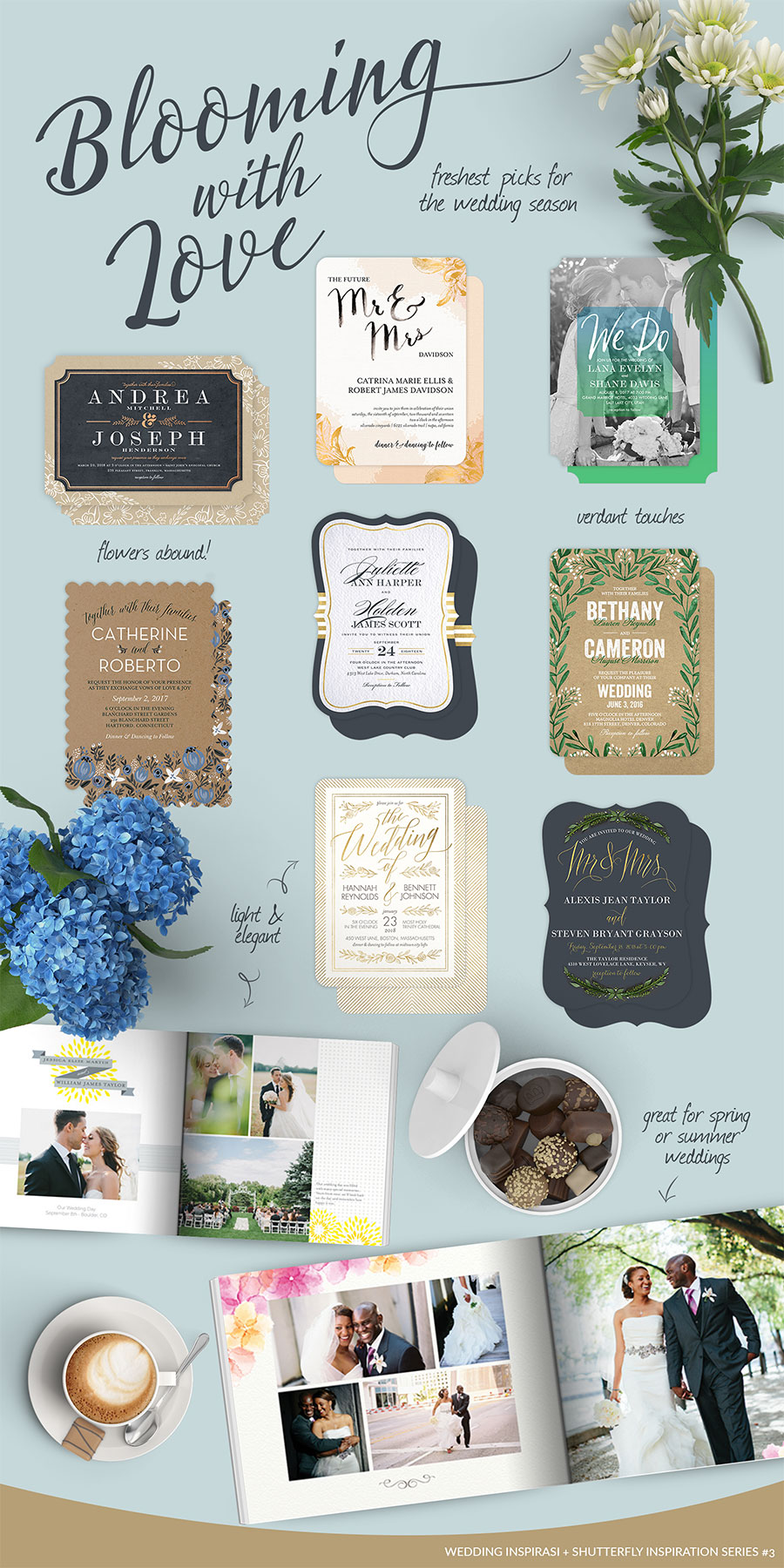 Shutterfly: Love Blooms Inspiration Board | Wedding Inspirasi
