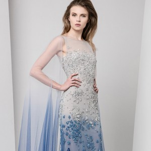 tony ward fall winter 2016 2017 ready to wear collection winter wonderland dress featured 680 a