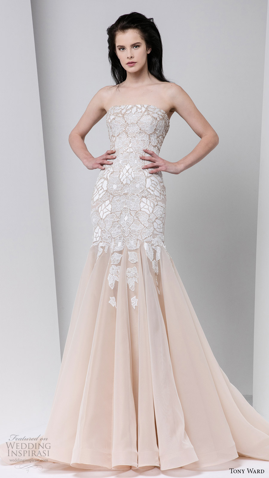 Tony Ward Fall Winter 2016 2017 Rtw Strapless A Line Off White Evening Dress Wedding Inspiration