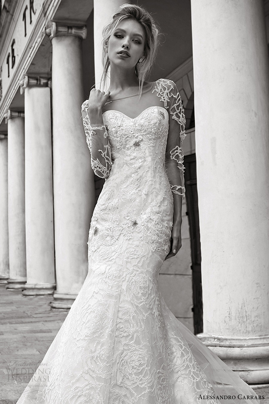 Long Sleeve Fitted Wedding Dresses 78 Marvelous alessandro carrabs couture bridal