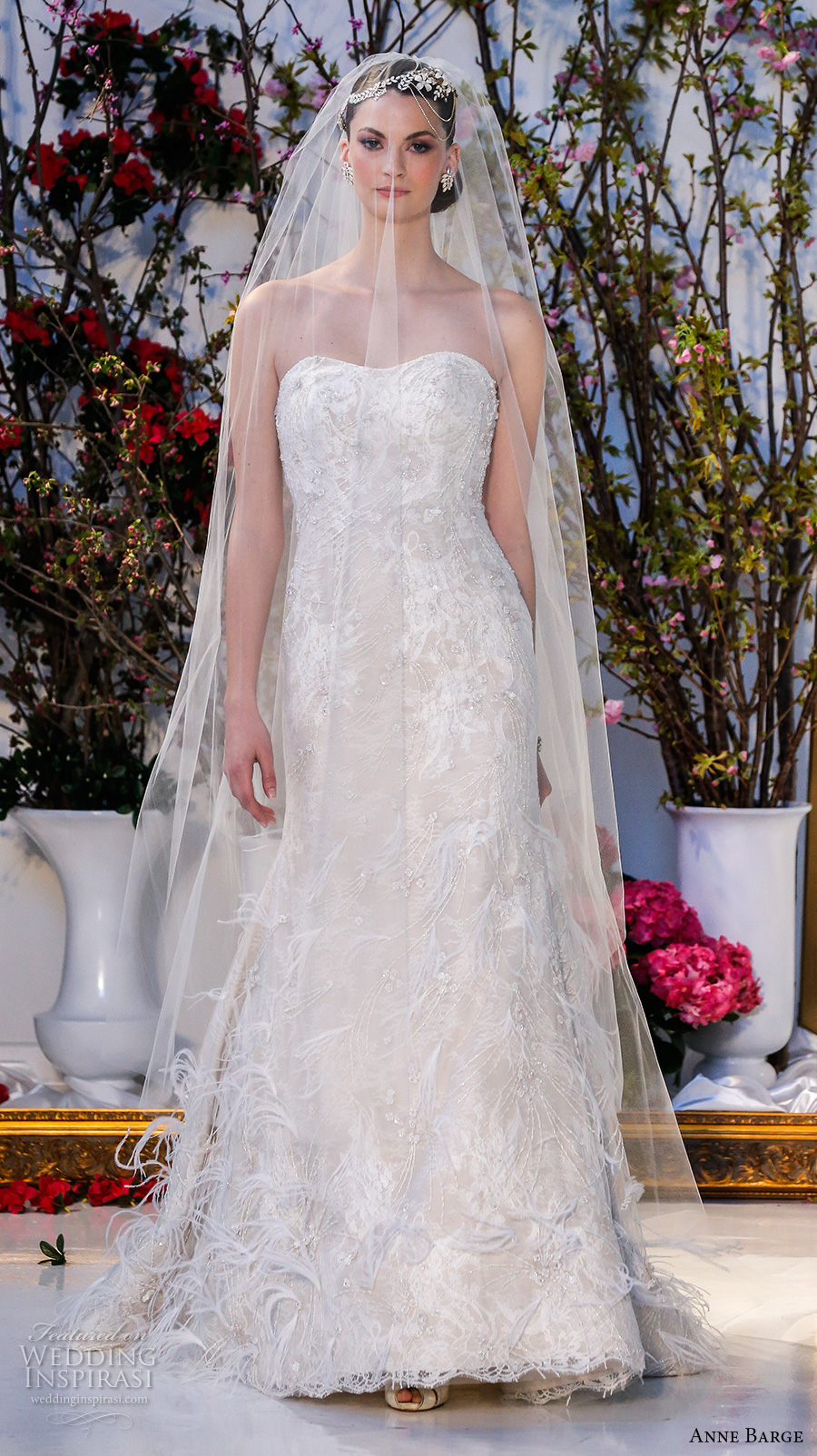 Cathedral Train Wedding Dress 31 Unique anne barge spring bridal