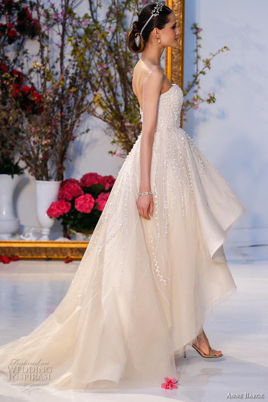 Anne barge spring 2017 wedding dresses wedding inspirasi for High low sweetheart wedding dress