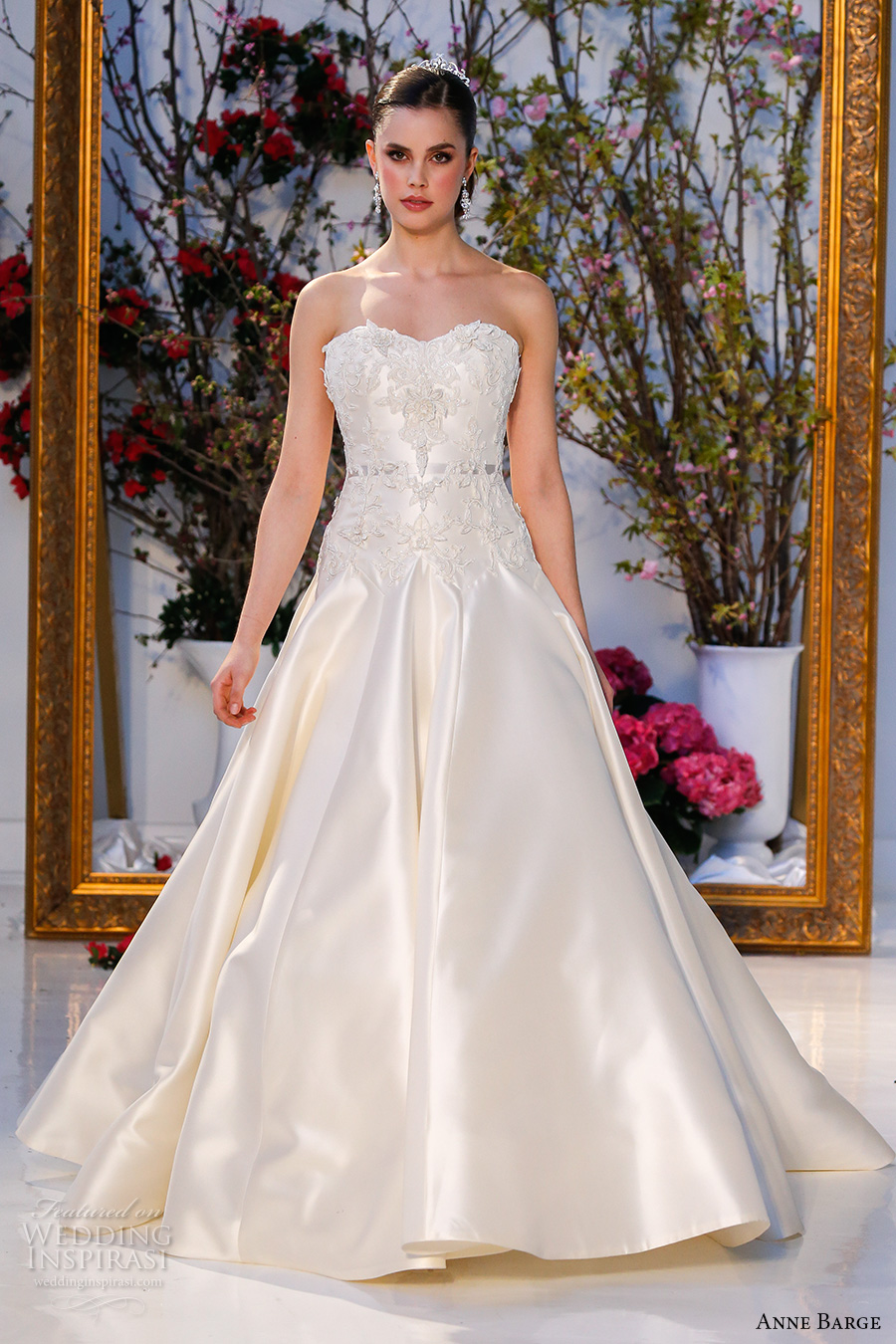 Cathedral Train Wedding Dress 65 Lovely anne barge spring bridal