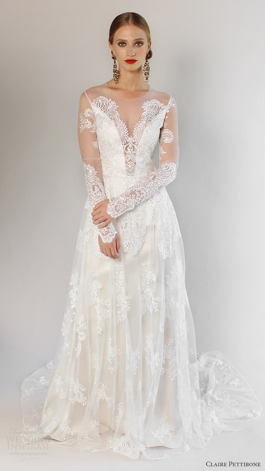 Romantique by claire pettibone spring 2017 wedding dresses for Dresses for spring wedding