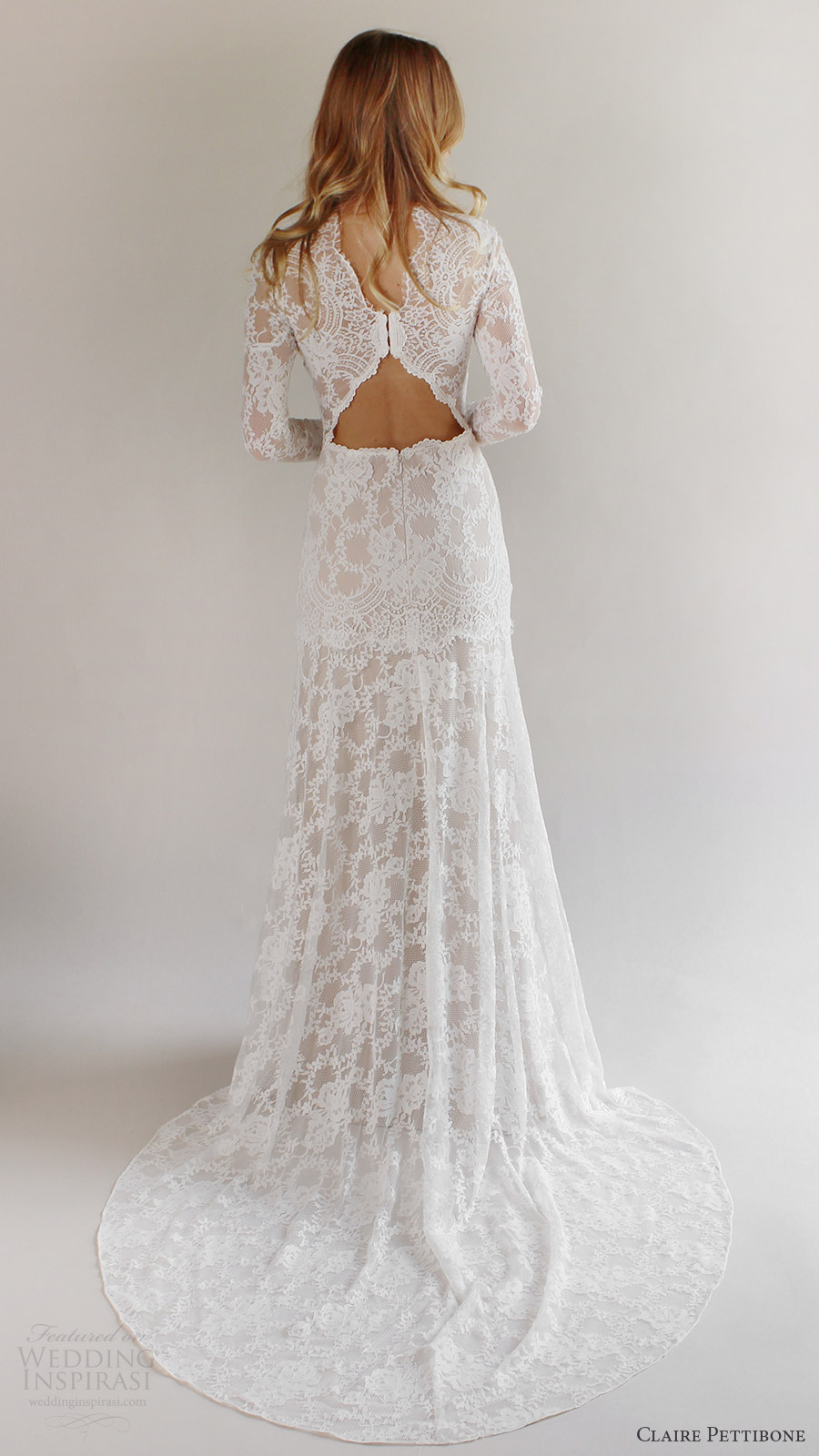 Romantique by claire pettibone spring 2017 wedding dresses for Wedding dresses with high neck and long sleeves