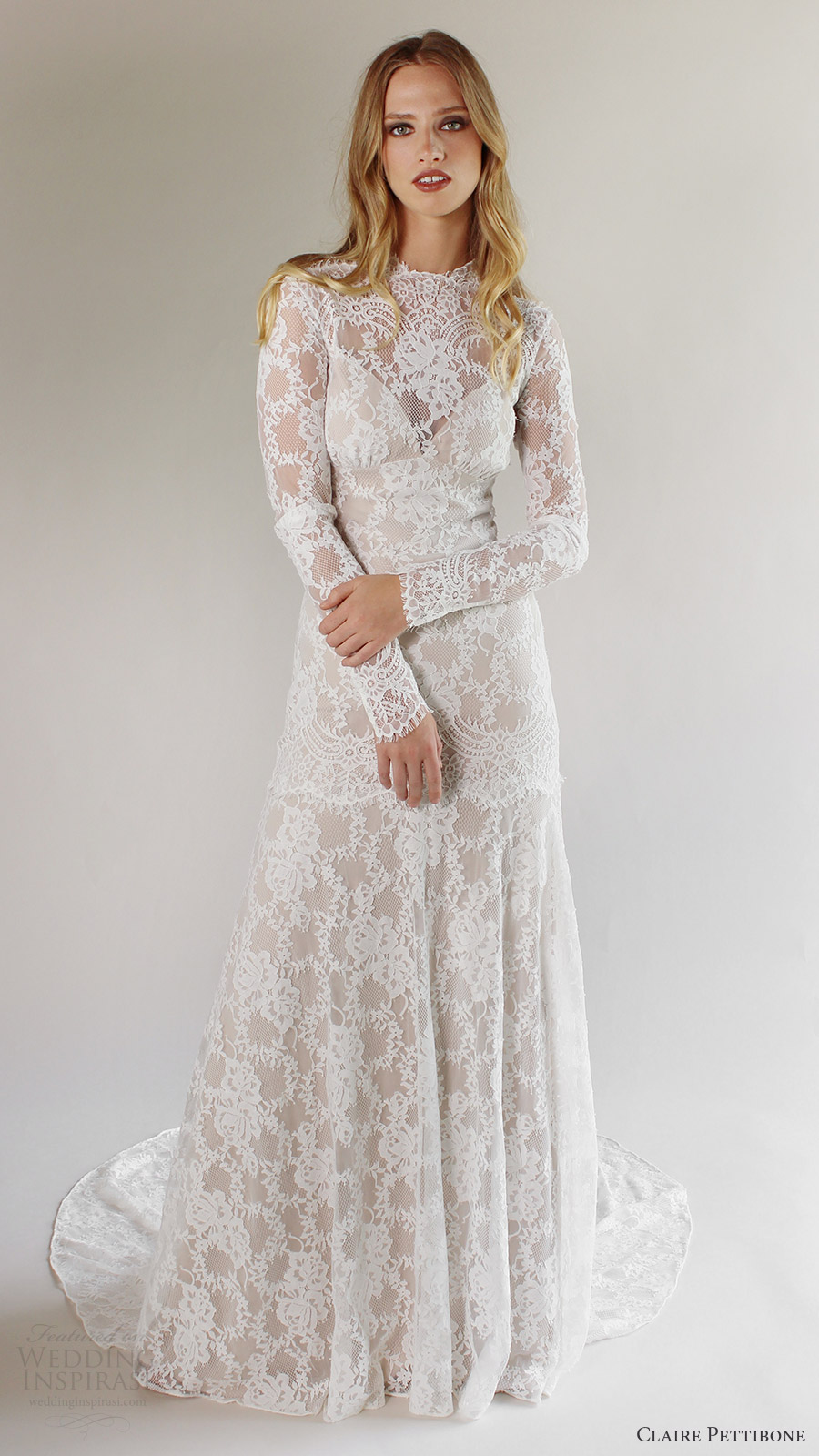 Romantique by claire pettibone spring 2017 wedding dresses for Wedding dresses with sleeves 2017
