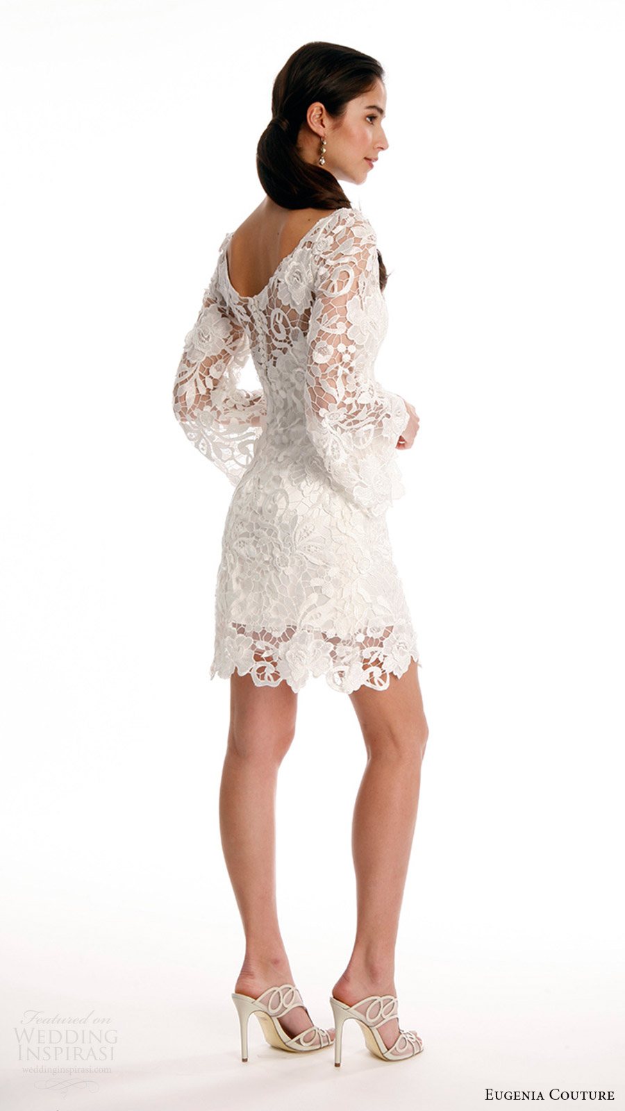 Lace Short Wedding Dress 70 Beautiful eugenia couture joy bridal