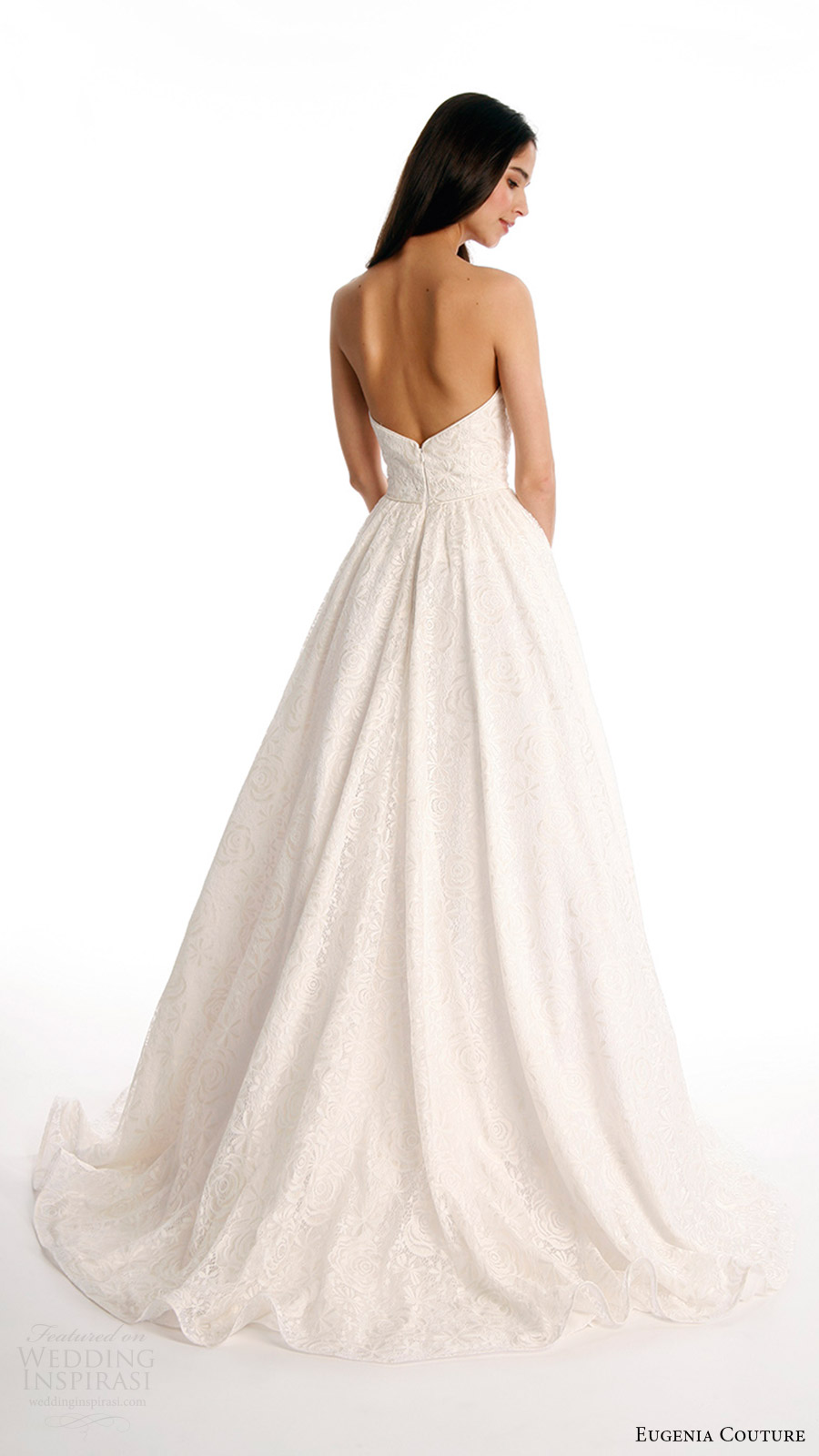 eugenia couture joy bridal spring 2017 strapless sweetheart ball gown wedding dress (beverly) bv train
