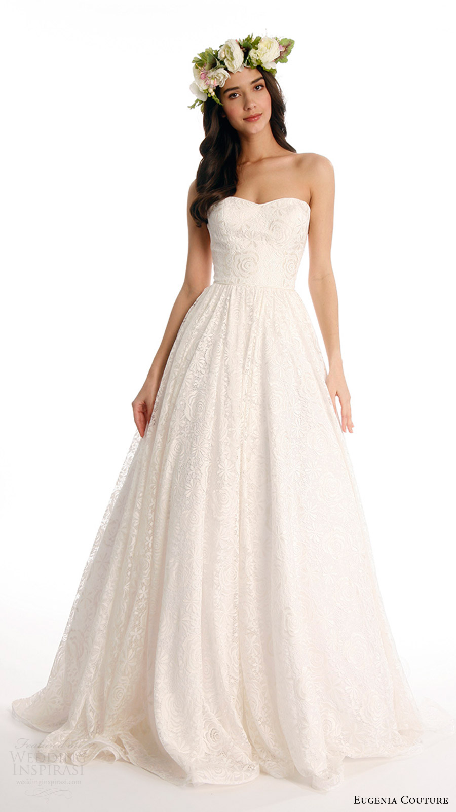 eugenia couture joy bridal spring 2017 strapless sweetheart ball gown wedding dress (beverly) mv
