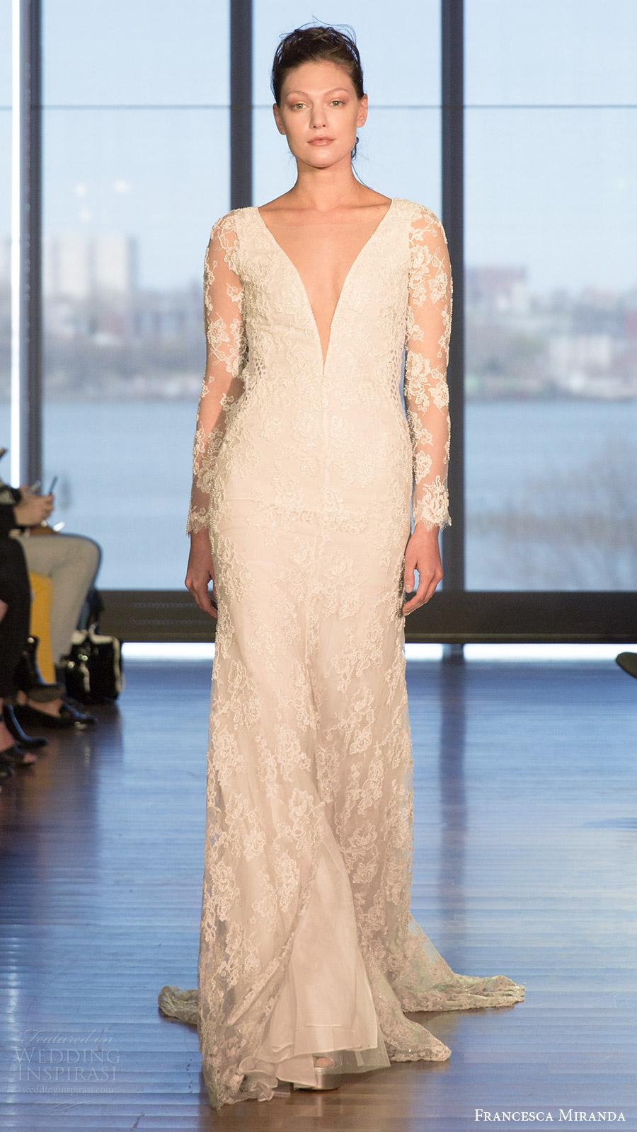 Wedding Dresses With Lace Sleeves 2017 : Francesca miranda spring wedding dresses inspirasi