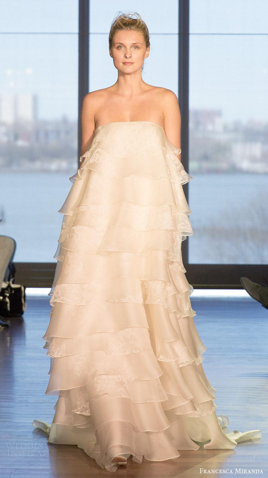 Francesca miranda spring 2017 wedding dresses wedding for Strapless wedding dresses 2017