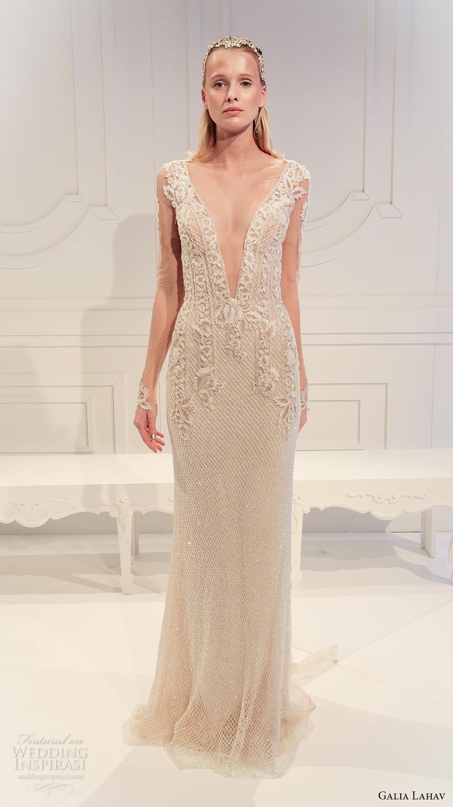 Galia lahav spring 2017 wedding dresses le secret royal for Wedding dresses with sheer illusion neckline
