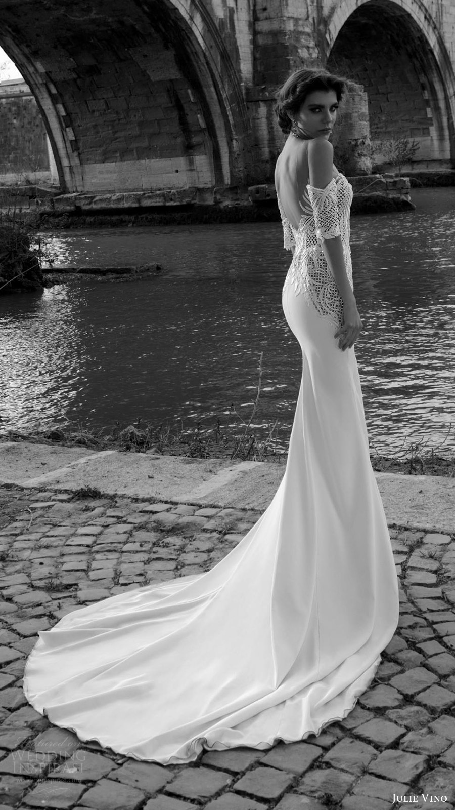 julie vino bridal spring 2017 half sleeves off shoulder sweetheart trumpet (cassia) sv low back train
