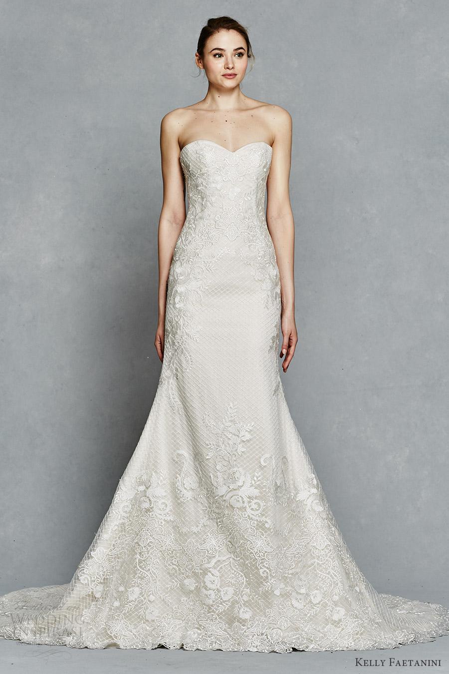 c2847c90f kelly faetanini bridal spring 2017 strapless sweetheart fit flare  embroidered wedding dress (sibyl) mv
