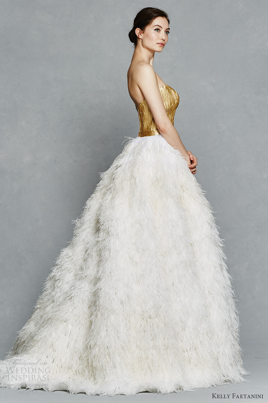 Kelly faetanini spring 2017 wedding dresses wedding for Wedding dress with ostrich feathers