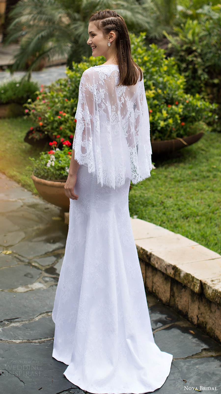 Noya bridal aria collection wedding dresses wedding for Wedding dress with a cape