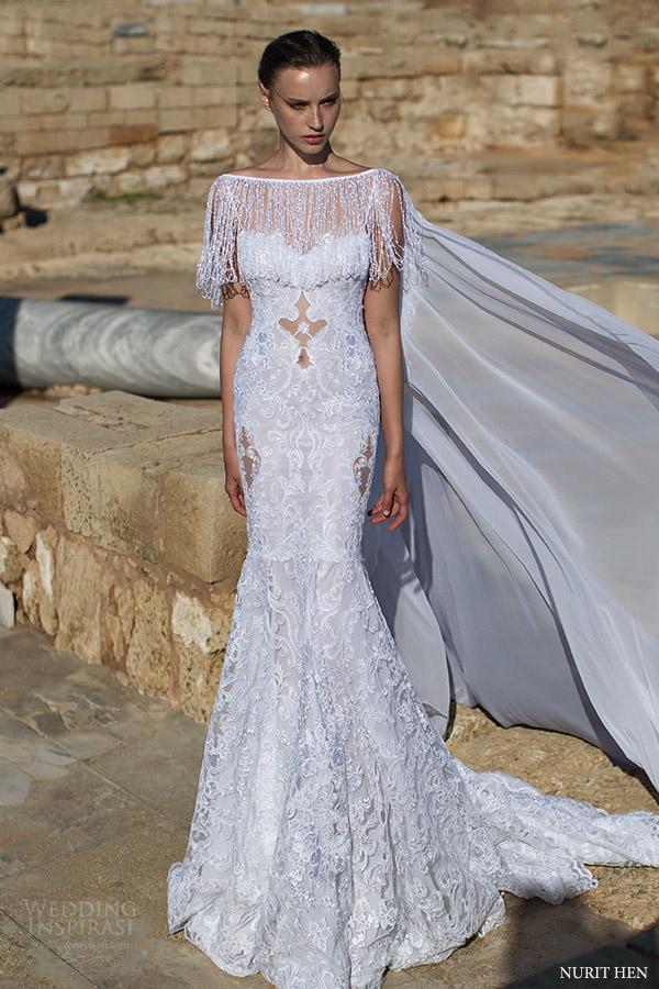 Couture Wedding Dress 47 Cute nurit hen fringe cape