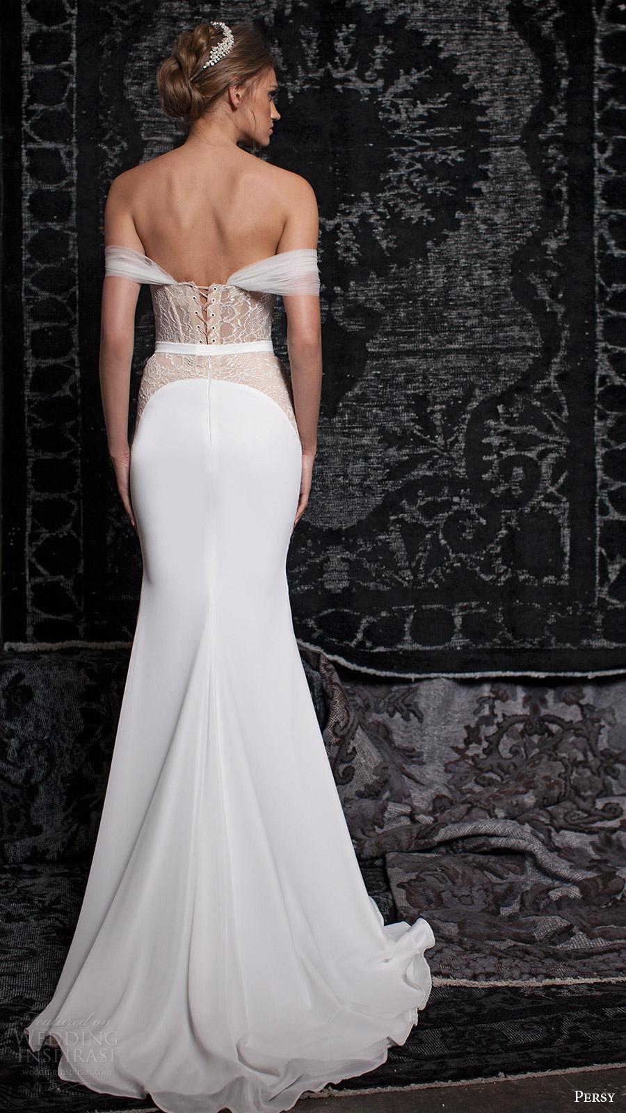 persy bridal fall 2016 off shoulder sweetheart column wedding dress (05) bv