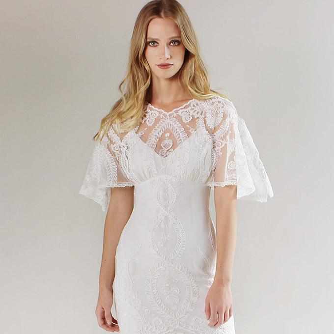 Sabrina Wedding Dress 55 Elegant Romantique by Claire Pettibone