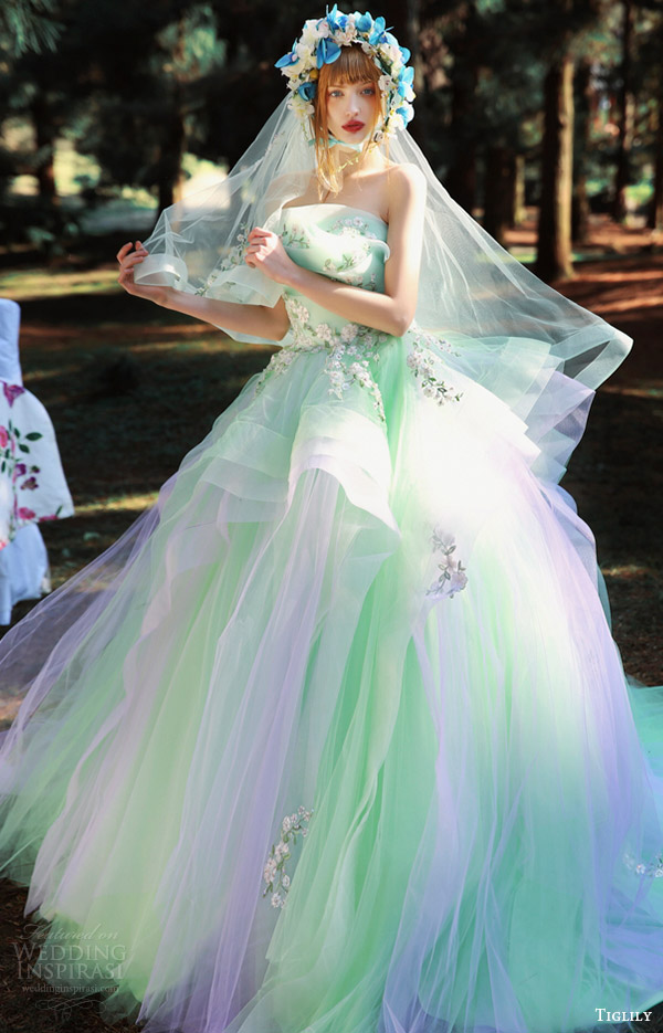 Multi Colored Wedding Dress