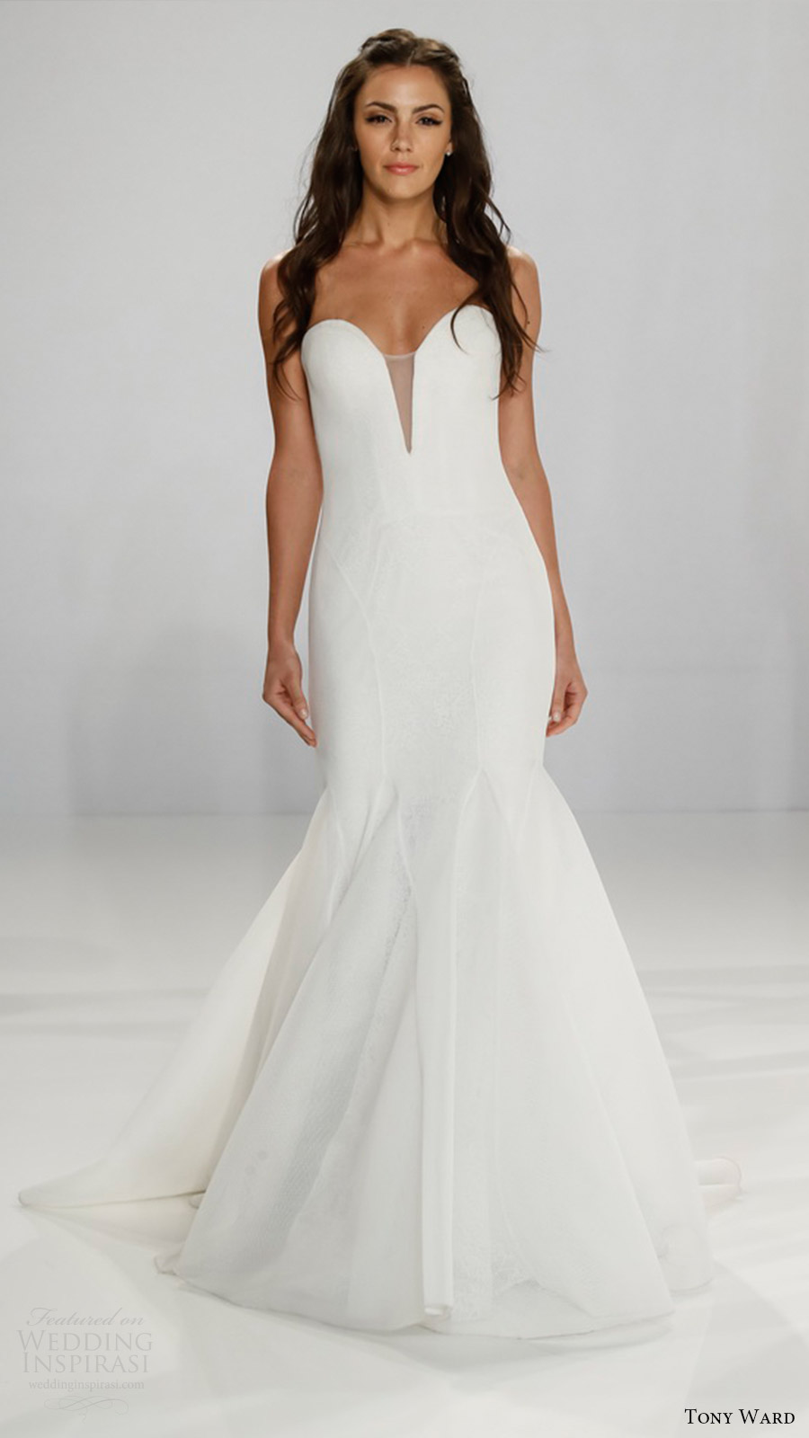 Fit N Flare Wedding Dresses 76 Elegant tony ward bridal strapless