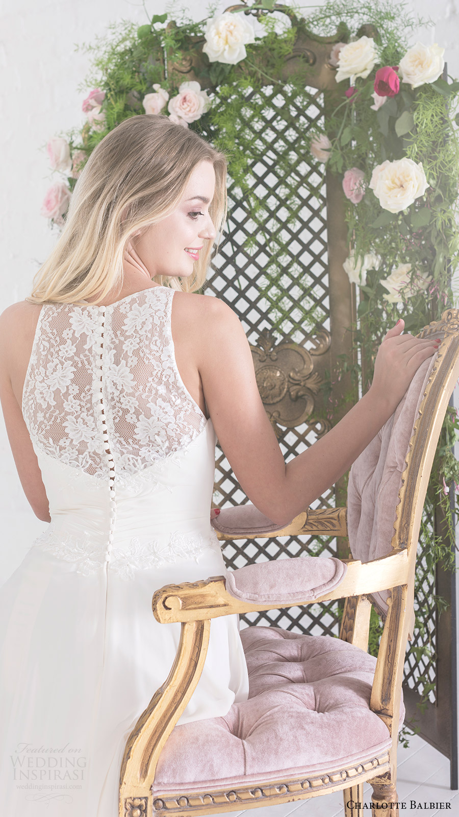 charlotte balbier bridal 2017 sleeveless sweetheart illusion halter aline wedding dress (aphrodite) zbv sheer back