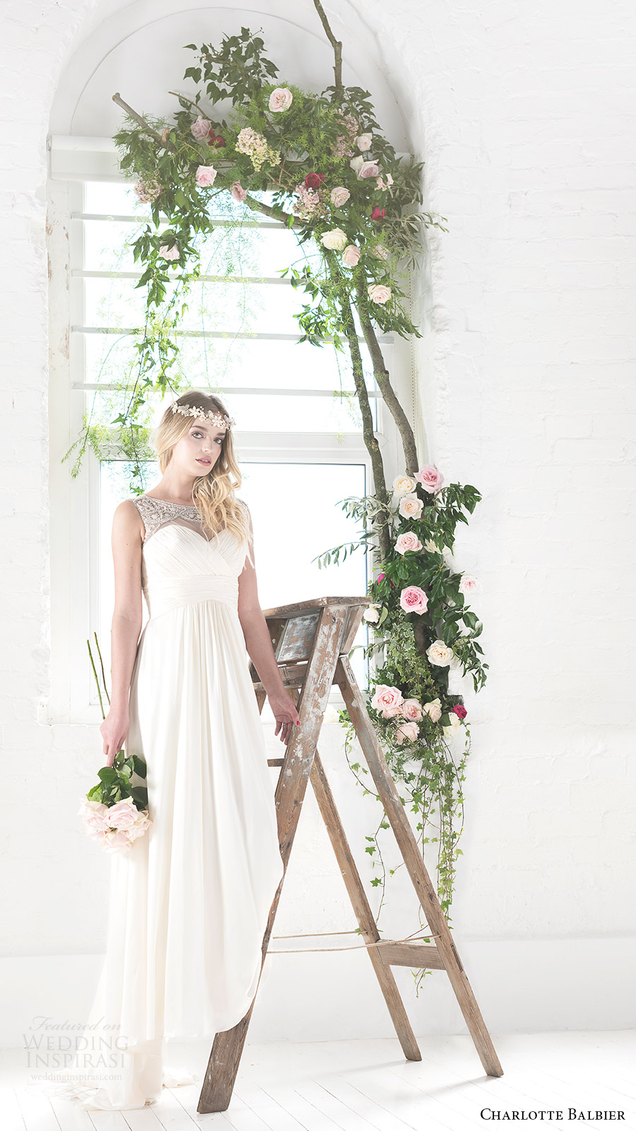 charlotte balbier bridal 2017 sleeveless sweetheart illusion jewel neck aline wedding dress (rosalie) fv