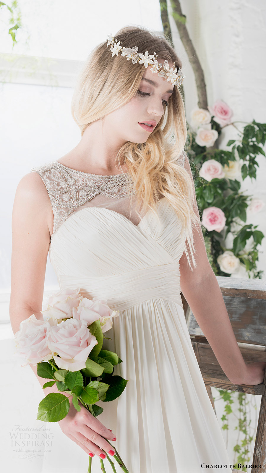 charlotte balbier bridal 2017 sleeveless sweetheart illusion jewel neck aline wedding dress (rosalie) zfv