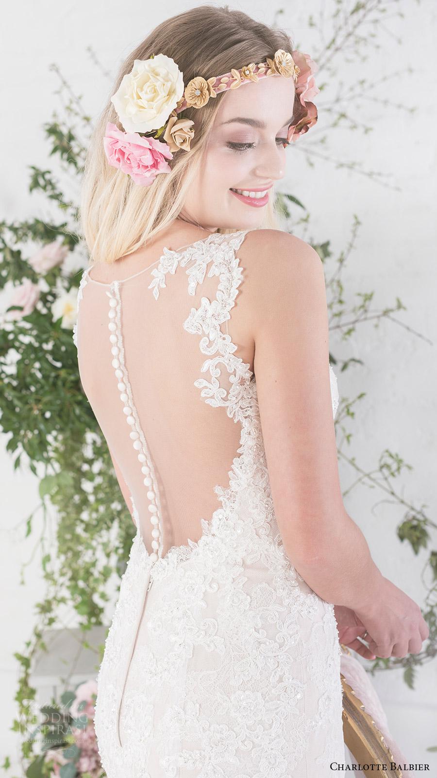charlotte balbier bridal 2017 sleeveless sweetheart trumpet wedding dress (paige) zbv sheer back