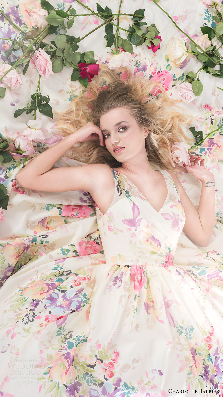 charlotte balbier bridal 2017 sleeveless vneck ball gown wedding dress (untamed love) fv
