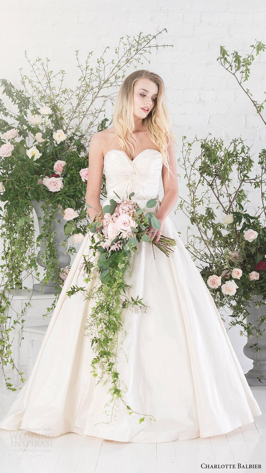 charlotte balbier bridal 2017 strapless sweetheart aline wedding dress (agatha) fv pockets