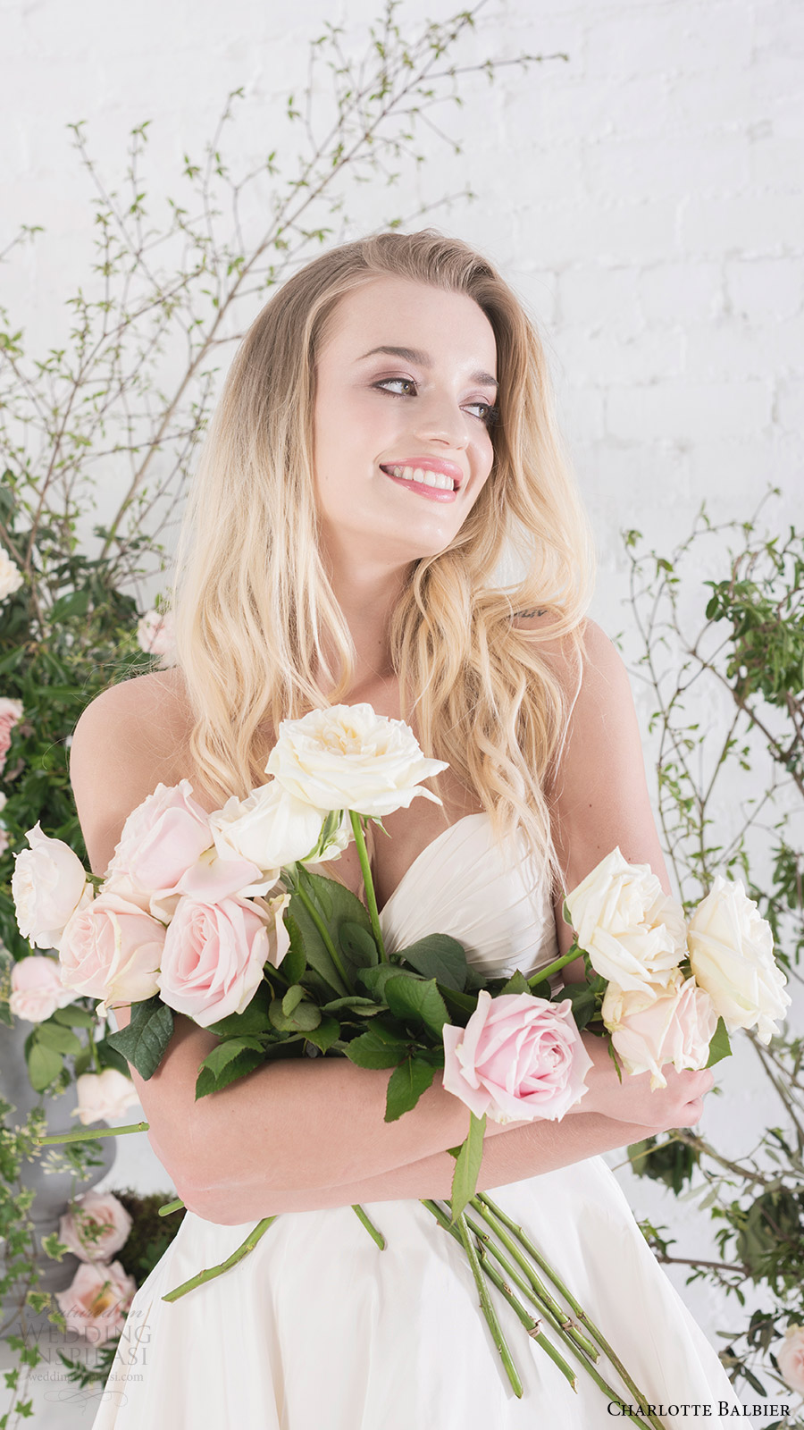 charlotte balbier bridal 2017 strapless sweetheart aline wedding dress (agatha) fv