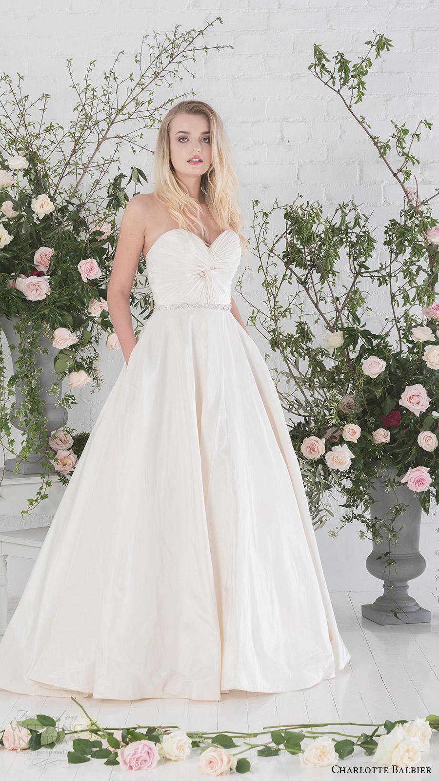 charlotte balbier bridal 2017 strapless sweetheart aline wedding dress (agatha) mv pockets