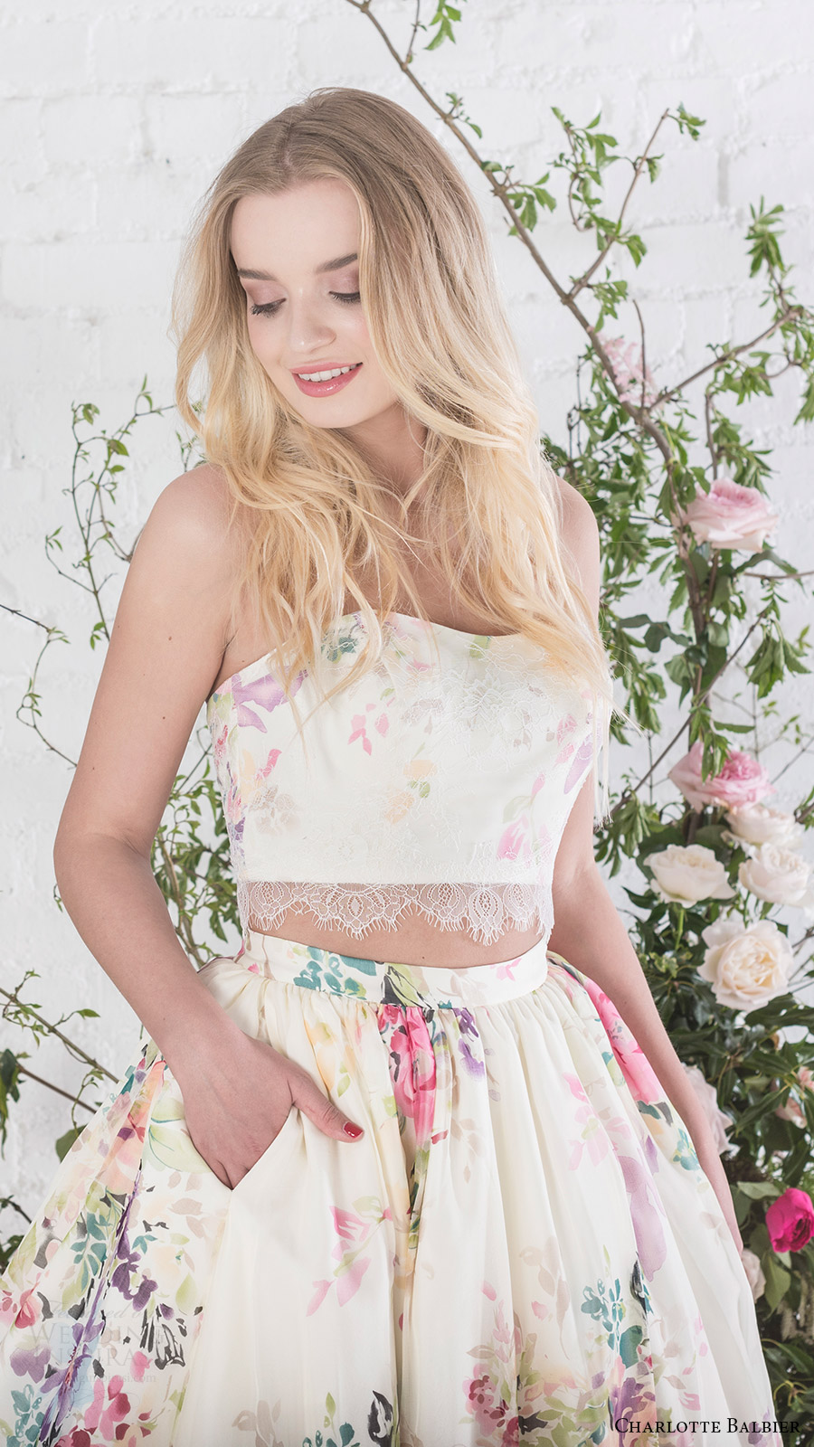 Floral Print Wedding Dresses 53 Superb charlotte balbier bridal strapless