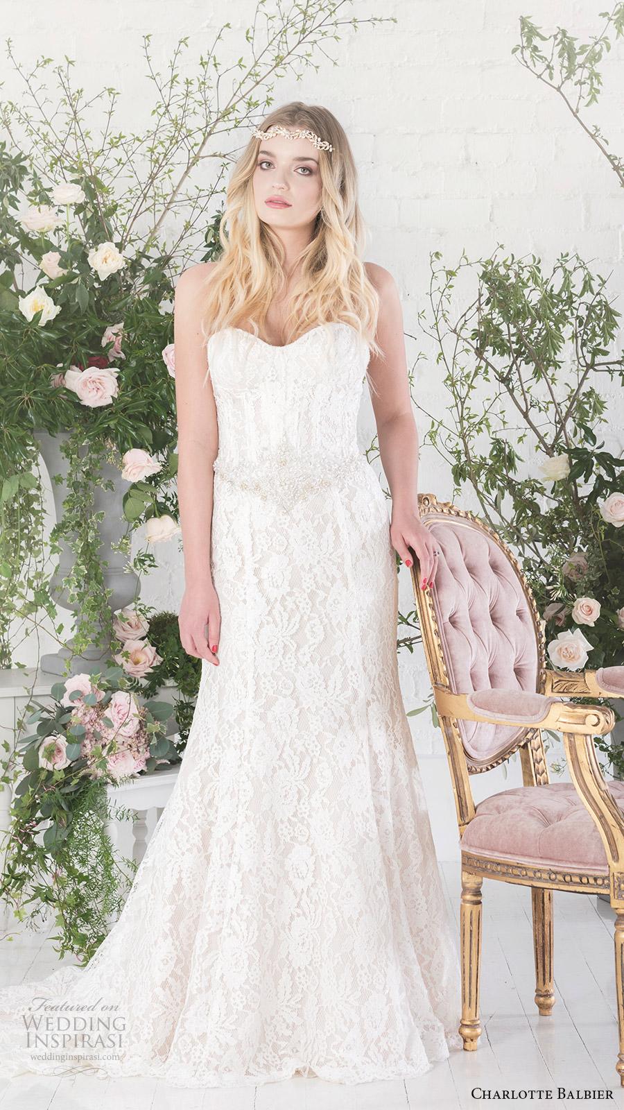 charlotte balbier bridal 2017 strapless sweetheart trumpet wedding dress (carmel) mv