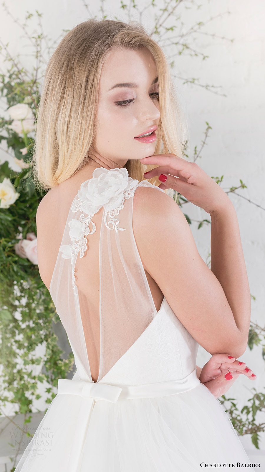 charlotte balbier bridal 2017 sweetheart illusion one shoulder ball gown wedding dress (rosemary) zbv train