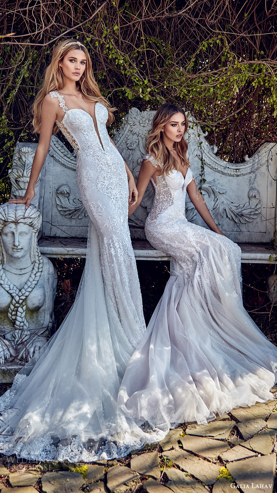 galia lahav bridal spring 2017 sheath mermaid trumpet sweetheart wedding dresses (samantha avena) mv