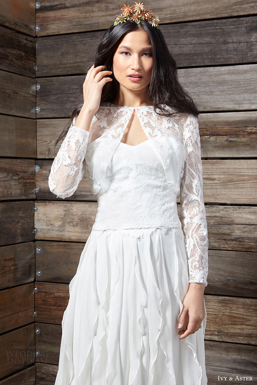 ivy aster bridal spring 2017 (evie) jacket mv
